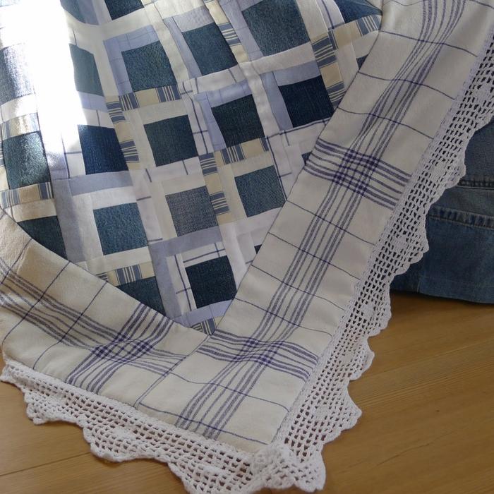Покрывало в технике пэчворк из старых джинсов и рубашек (7) (700x700, 380Kb)