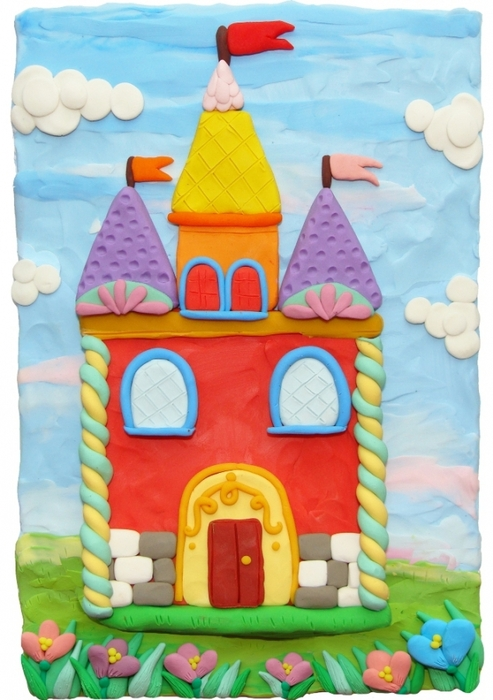 Домик из пластилина для детей