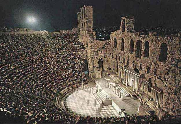 империи античный театр был