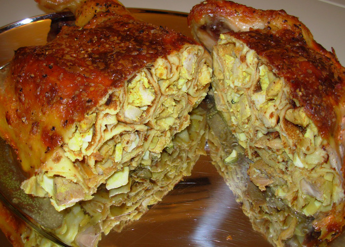 Фаршированная курица фаршированная в духовке рецепт с фото пошагово
