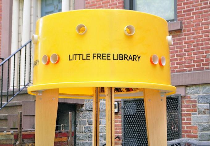 социальный проект уличная библиотека в нью-йорке 1 (680x472, 124Kb)