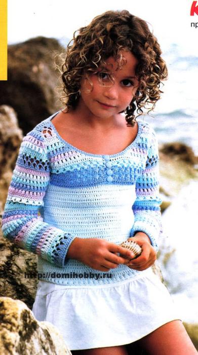 вязание-болеро-для-девочки (391x700, 336Kb)