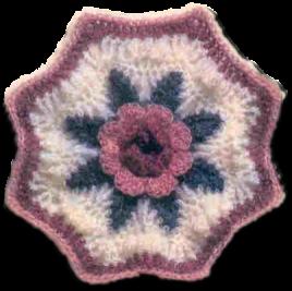 Вязание крючком. Плед с розами (1) (268x267, 107Kb)