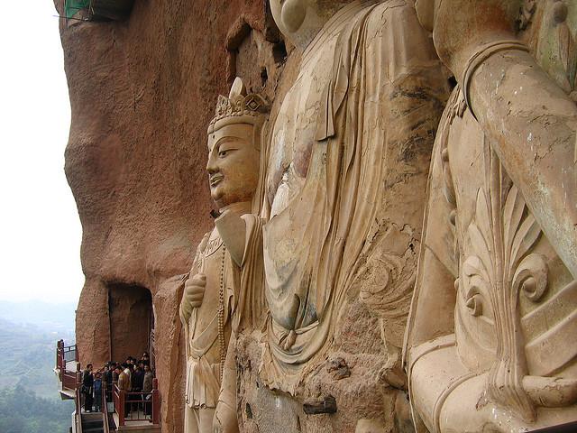 буддийский комплекс Майцзишань китай 9 (640x480, 142Kb)