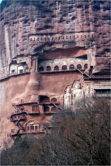 буддийский комплекс Майцзишань китай 11 (466x700, 310Kb)
