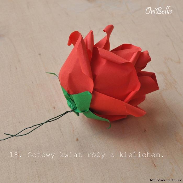 Как сложить розу для денежного букета. Оригами из купюр. Мастер-класс (19) (700x700, 239Kb)