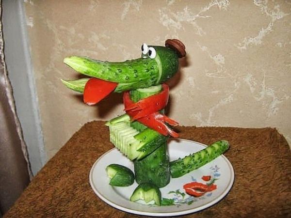 Поделки из овощей на скорую руку 4