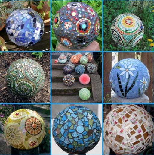 Bolas decorativas feitas de cimento para o jardim.  Oficina de idéias (9) (512x514, 165 KB)