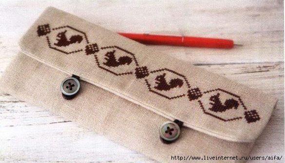 Вышивка крестом, схемы Кошелёк
