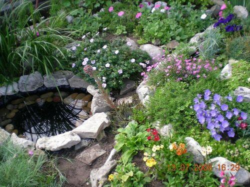 Как сделать маленький прудик в саду