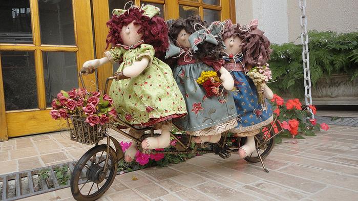 лоскутные куклы ручной работы (700x393, 231Kb)