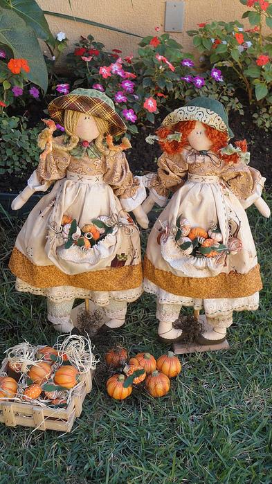 лоскутные куклы ручной работы 14 (393x700, 289Kb)