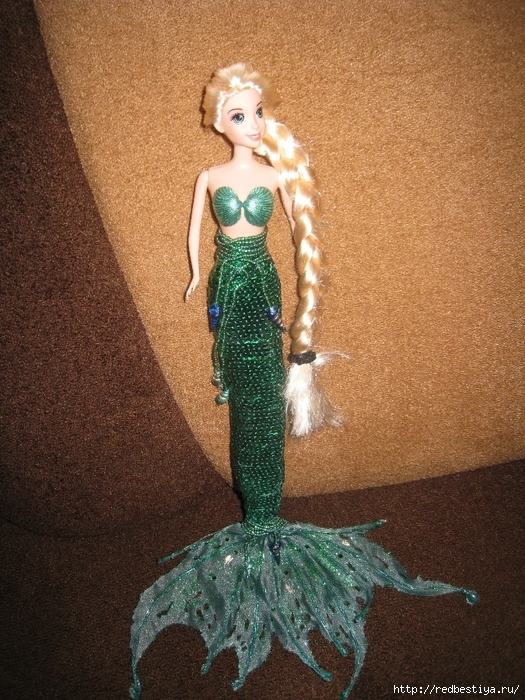 Хвост русалки кукла своими руками