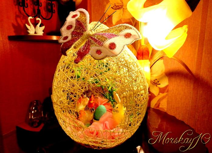 Morskay10. Большое ажурное пасхальное яйцо! (мастер-класс)
