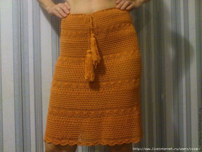Связать юбку крючком на осень
