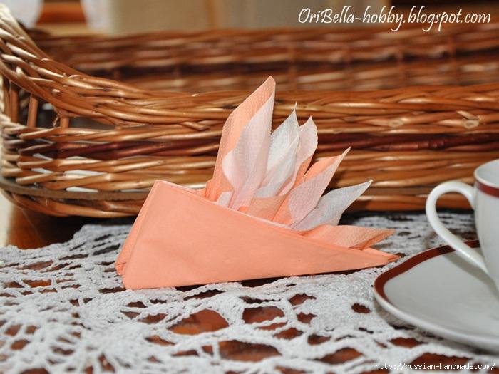 Парусник из салфетки для праздничной сервировки стола (2) (700x525, 250Kb)