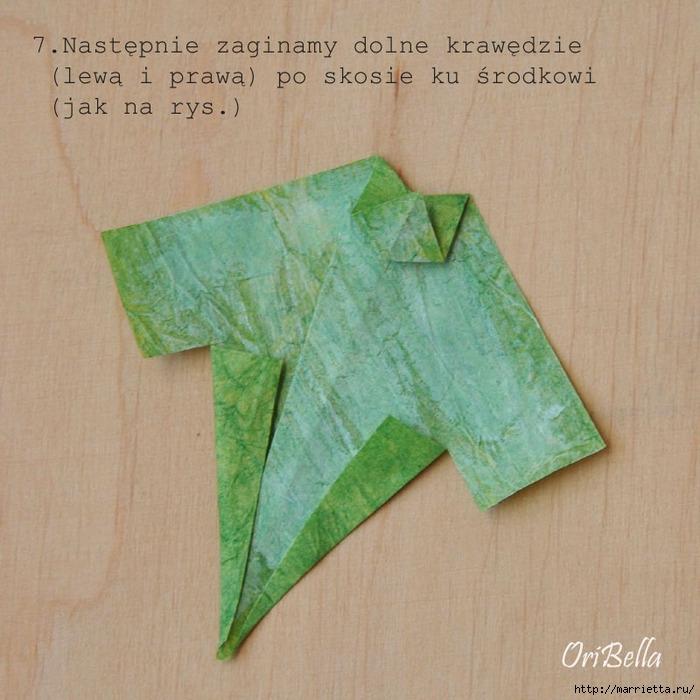 Декоративный плющ из бумаги в технике оригами. Мастер-класс (9) (700x700, 269Kb)