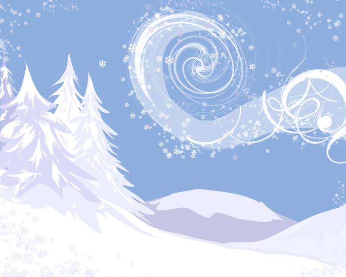 Рисунок на тему зима хрустальная 4