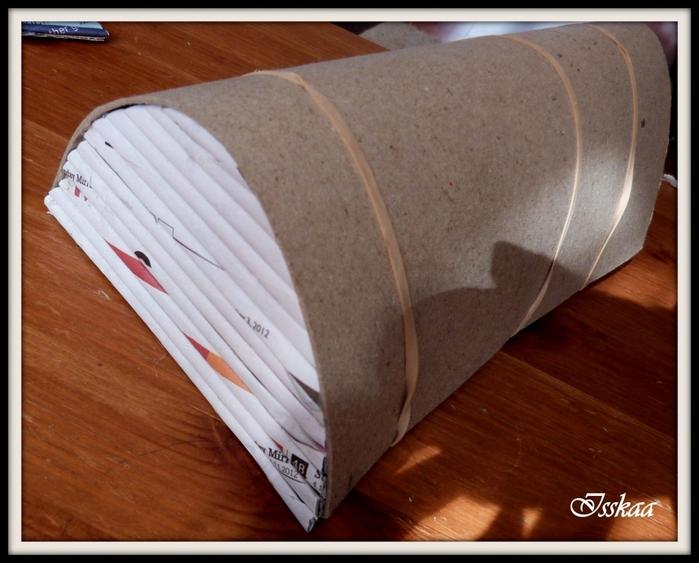 Сундучок из коробки, оплетание газетными трубочками. Мастер-класс (6) (700x563, 257Kb)