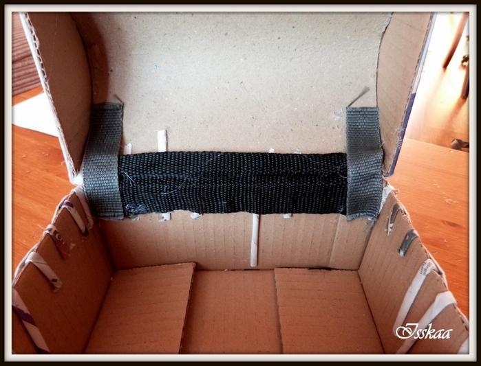 Сундучок из коробки, оплетание газетными трубочками. Мастер-класс (12) (700x533, 250Kb)