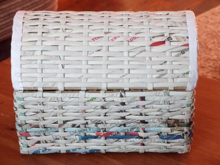 Коробка из газетных трубочек своими руками мастер класс 66
