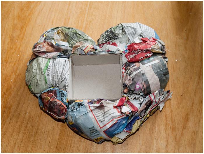 Кофейное сердце - домик для птички. Мастер-класс (9) (700x526, 131Kb)