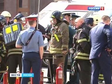 Пожар в метро Москвы (380x285, 100Kb)
