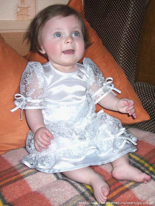 Выкройка платья для крещения 2