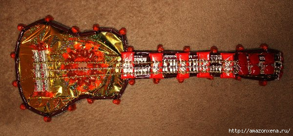 Конфетная гитара. Шаблон сладкого подарка (1) (600x278, 148Kb)