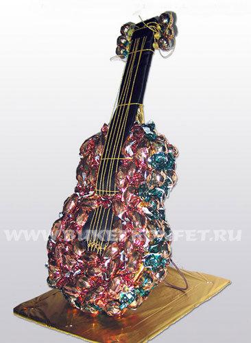 Конфетная гитара. Шаблон сладкого подарка (3) (366x500, 51Kb)