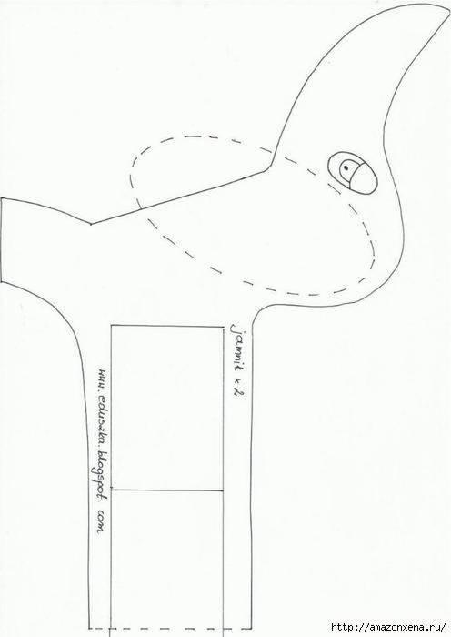 Шьем игрушки. Выкройки зайца и таксы (9) (496x700, 67Kb)