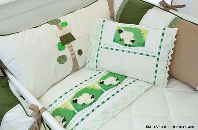 Овечки на постельном белье (2)