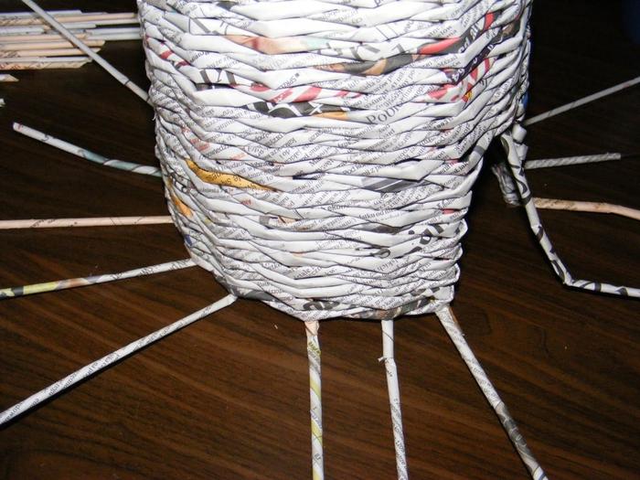 Плетение из газет. МЕЛЬНИЦА. Мастер-класс (14) (700x525, 311Kb)