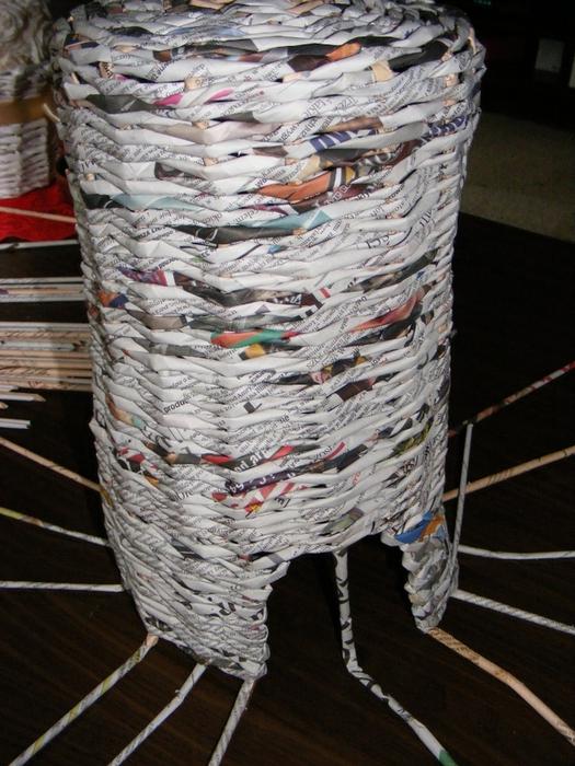 Плетение из газет. МЕЛЬНИЦА. Мастер-класс (16) (525x700, 309Kb)