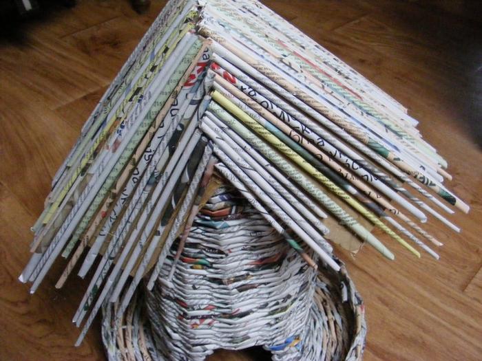 Плетение из газет. МЕЛЬНИЦА. Мастер-класс (38) (700x525, 317Kb)