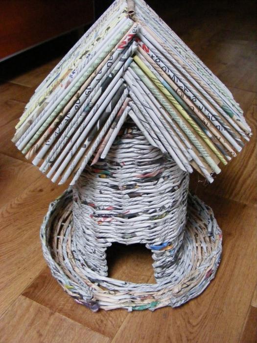 Плетение из газет. МЕЛЬНИЦА. Мастер-класс (40) (525x700, 316Kb)