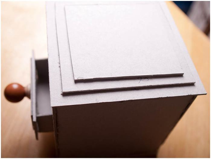 Винтажная кофемолка из картона. Мастер-класс. Супер! (30) (700x526, 25Kb)