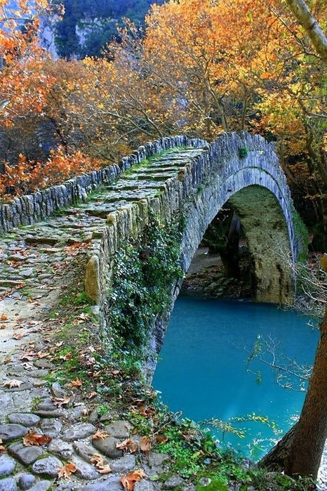 Amazing Pictures Ancient Stone Bridge, Epirus, Greece, Beautiful, Wonderful ,Gorgeous, Pretty, Awesome, Nice, Lovely...