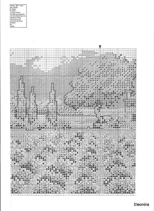 Вышивка херитаж лавандовое поле схема 63