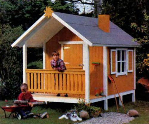 Детские домики на даче своими руками фото