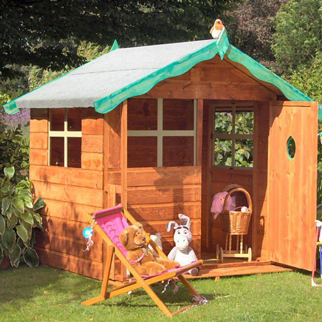 Детские деревянные домики фото