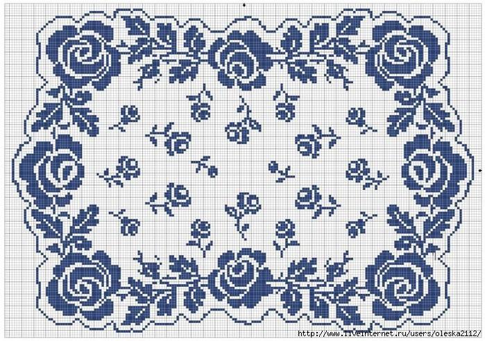 салфетка с розами (700x492, 328Kb)