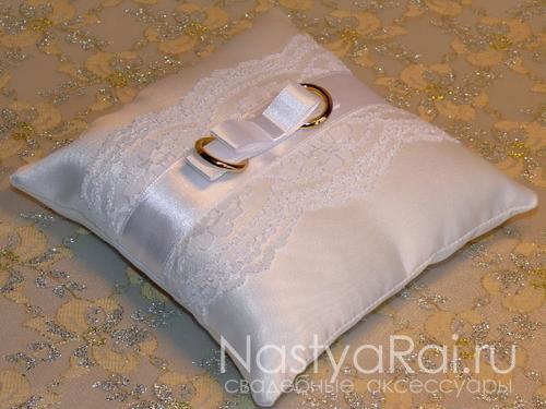 Подушечки для свадебных колец своими руками фото