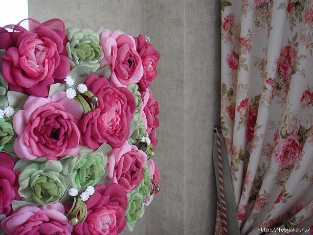 Креативные цветы из ткани
