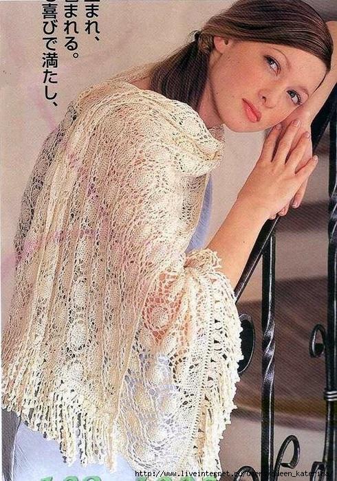针织:玲珑披肩 - maomao - 我随心动