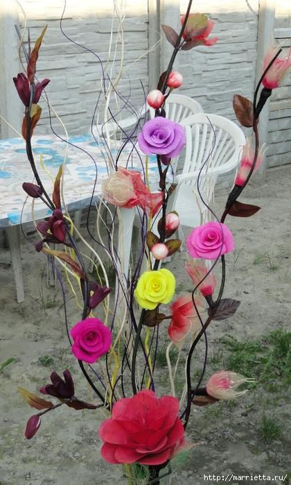 розы из гофрированной бумаги. мастер-класс (40) (420x699, 289Kb)