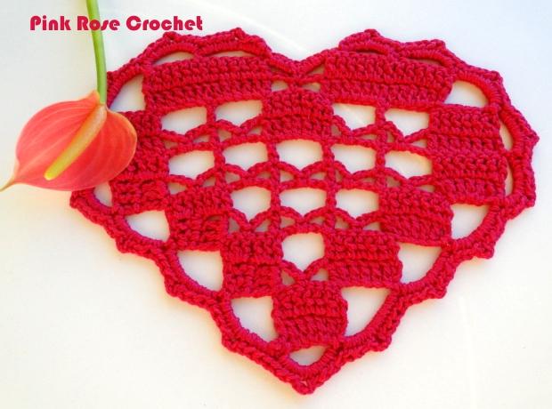 Cora??o de Croche Crochet Heart (620x460, 234Kb)