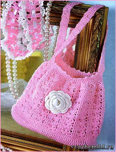 Летняя вязаная сумка | Милые