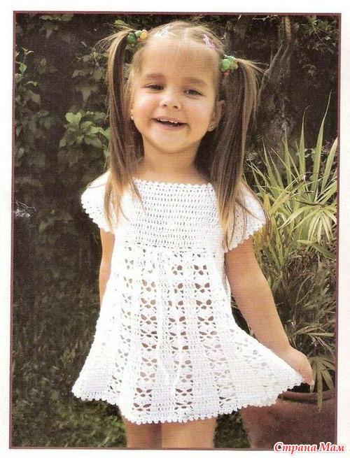 Детские платья вязаные доставка
