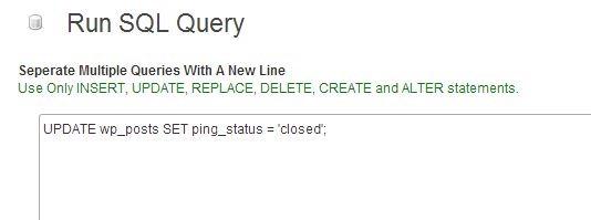 Спам обратными ссылками в WordPress. Удаление спама, отключение обратных ссылок. SQL запросы, плагин WP DBManager